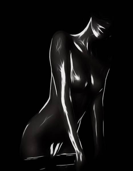Seek Painting - Find Me In The Dark by Steve K