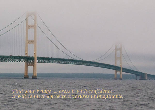 Photograph - Find Your Bridge - Card by Guy Whiteley