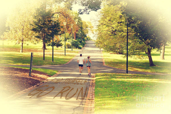 Photograph - Find Yourself Go Run At Fitzroy Gardens In Melbourne Australia by Beverly Claire Kaiya