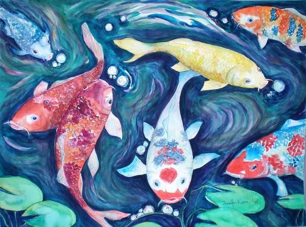 Wall Art - Painting - Finding My Partner by Jennifer Kwon