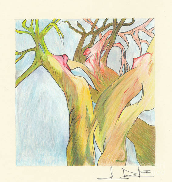 Painting - Fine Line Trees by George D Gordon III