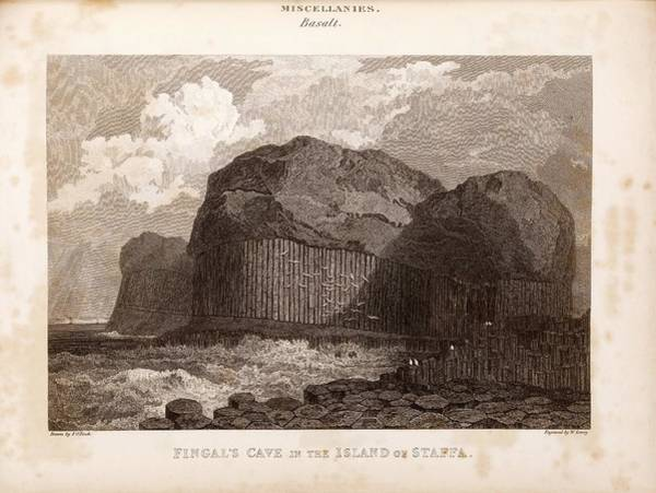 Basalt Photograph - Fingal's Cave On Staffa by Middle Temple Library