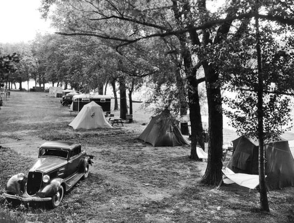 1931 Photograph - Finger Lakes Camping by Underwood Archives