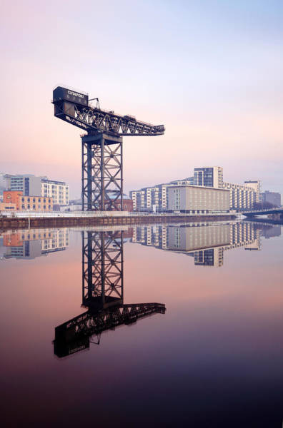 Photograph - Finnieston Crane Reflection by Grant Glendinning
