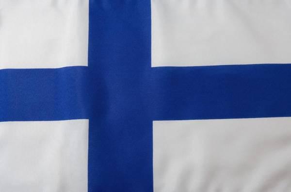 Finnish Flag Art Print by Junior Gonzalez