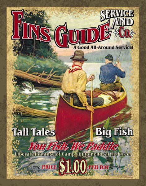 Wall Art - Painting - Fins Guide Service by JQ Licensing
