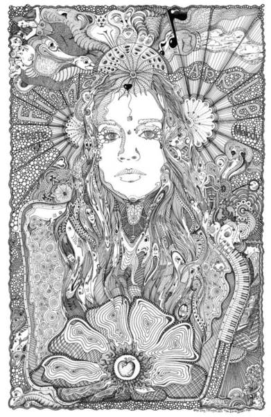 Musical Theme Painting - Fiona Sweet Apple by Lance Graves