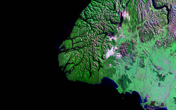 Ir Photograph - Fiordland by Nasa/science Photo Library