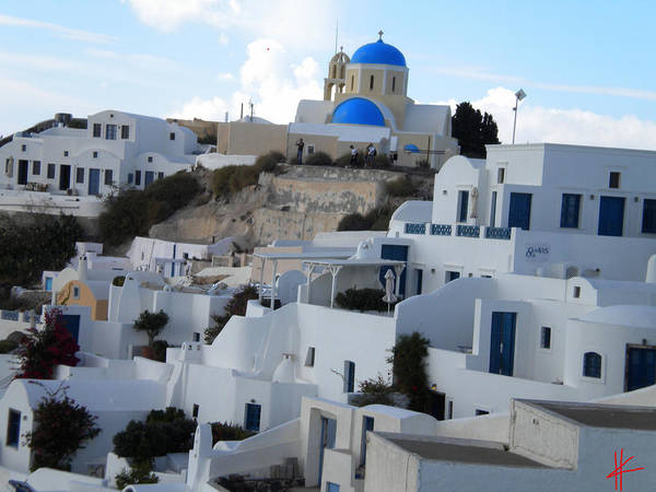 Photograph - Fira Village Santorini Greece by Colette V Hera  Guggenheim