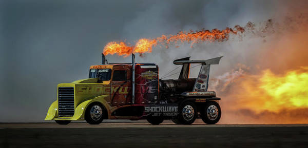 Fire Truck Photograph - Fire & Speed - Mcas Miramar Air Show by David H Yang