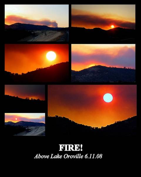 Photograph - Fire by AJ  Schibig