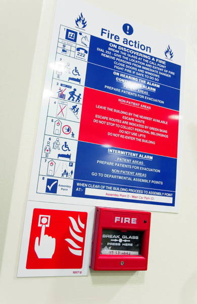Notice Photograph - Fire Alarm by Gustoimages/science Photo Library