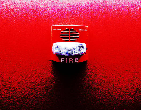 Photograph - Fire Alarm Strobe by Richard Reeve