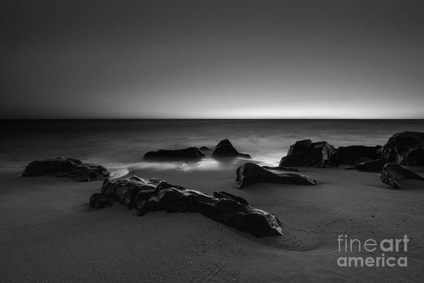 Sandy Hook Wall Art - Photograph - Fire And Ice Bw by Michael Ver Sprill