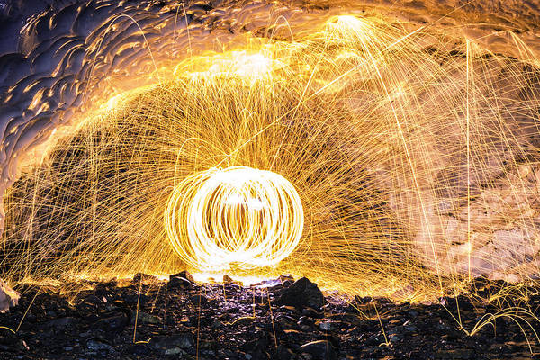 Steel Wool Photograph - Fire And Ice II by Ryan McGinnis