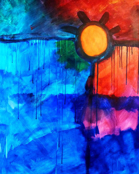 Non Representational Painting - Fire And Ice by Nancy Merkle
