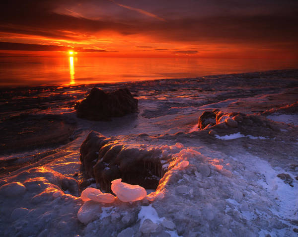 Photograph - Fire And Ice by Ray Mathis