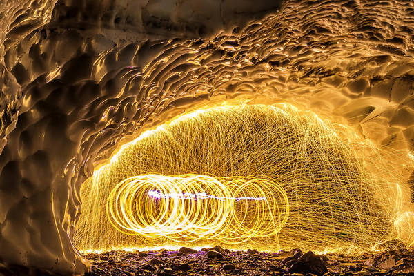 Steel Wool Photograph - Fire And Ice by Ryan McGinnis