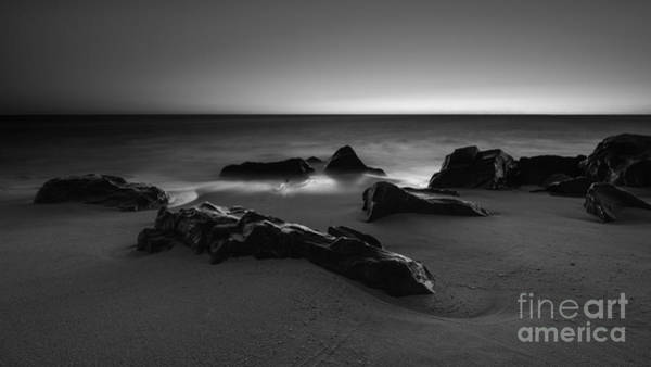 Sandy Hook Wall Art - Photograph - Fire And Ice Version 2 Bw by Michael Ver Sprill