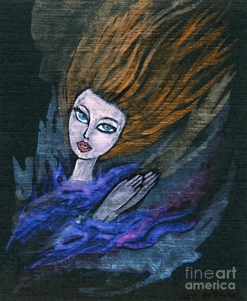 Wall Art - Painting - Fire And Water by Angel Ciesniarska