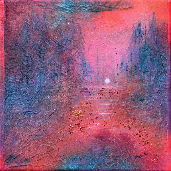 Wall Art - Painting - Fire At The Lake by Donna Blackhall