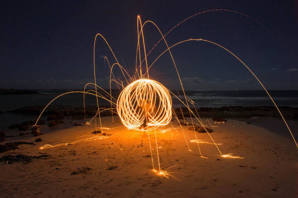 Steel Wool Photograph - Fire Ball by Tin Lung Chao