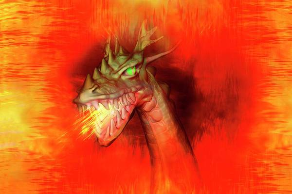 Mythical Photograph - Fire-breathing Dragon by Carol & Mike Werner