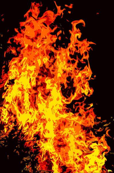 Flammable Wall Art - Mixed Media - Fire by Brian Stevens