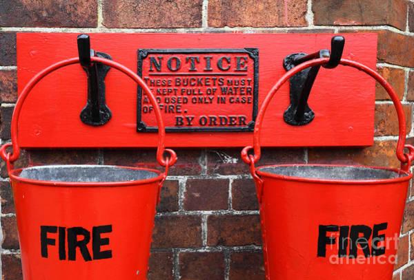 Photograph - Fire Buckets 1 by James Brunker