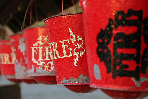 Photograph - Fire Buckets At Calico by Michael Hope