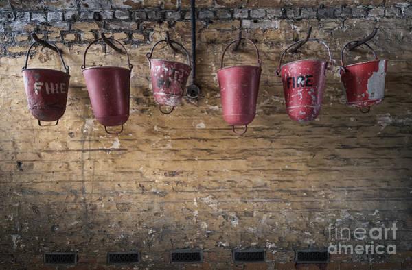 Brick Wall Wall Art - Photograph - Fire Buckets by Svetlana Sewell