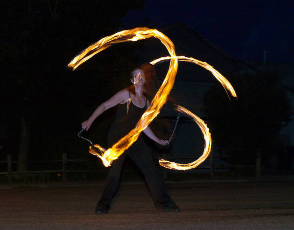 Photograph - Fire Dance 3 by Tarey Potter