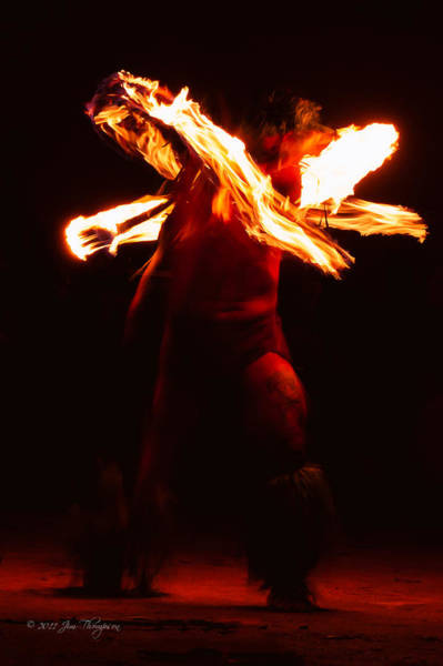 Photograph - Fire Dancer 1 by Jim Thompson