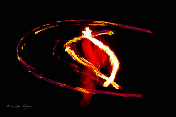 Photograph - Fire Dancer 2 by Jim Thompson