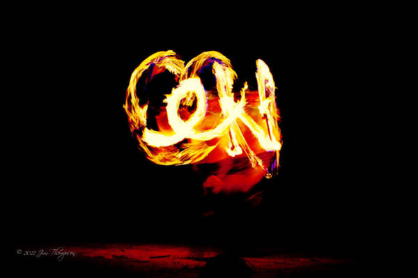 Photograph - Fire Dancer 4 by Jim Thompson
