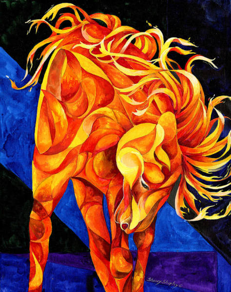 Painting - Fire Dancer by Sherry Shipley