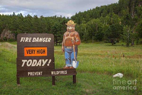 Photograph - Fire Danger Sign  by Bryan Mullennix