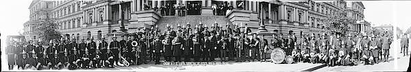 Wall Art - Photograph - Fire Department Band Washington Dc by Fred Schutz Collection