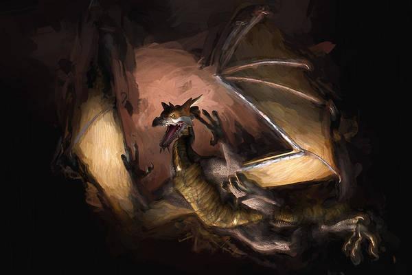 Digital Art - Fire Dragon by Carlos Diaz