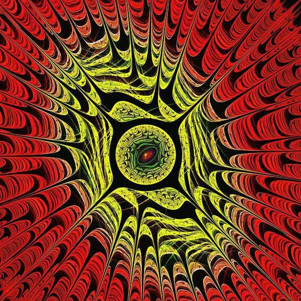 Digital Art - Fire Dragon Eye by Anastasiya Malakhova