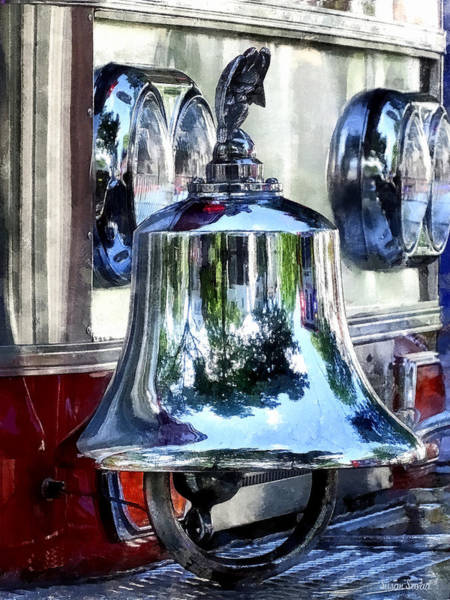 Photograph - Fire Engine Bell Closeup by Susan Savad