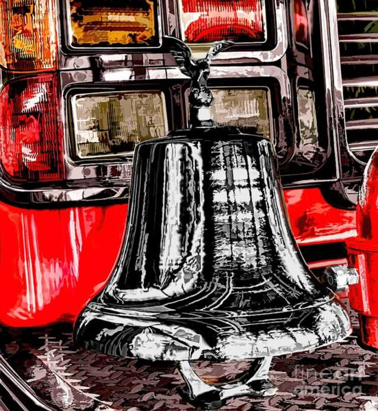 Photograph - Fire Engine Bell by Jim Lepard