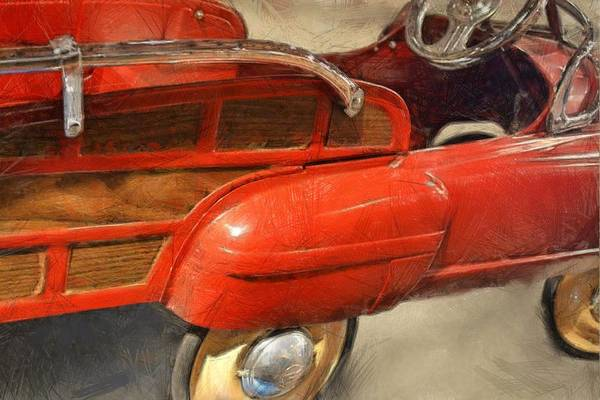 Pedal Car Wall Art - Photograph - Fire Engine Pedal Car by Michelle Calkins