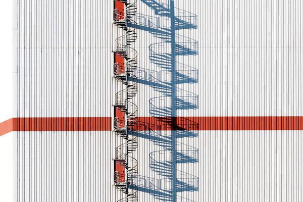 Bremen Wall Art - Photograph - Fire Escape Against Building by Dirk Hoffmann / Eyeem