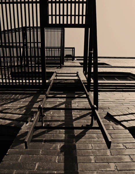 Ladders Photograph - Fire Escape Sepia by Don Spenner