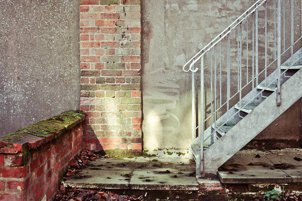 Banister Wall Art - Photograph - Fire Escape Stairs by Tom Gowanlock