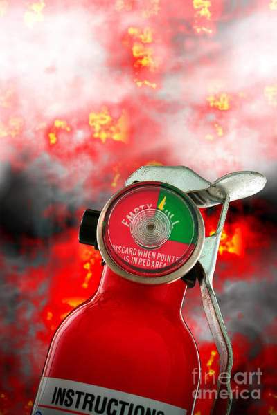 Photograph - Fire Extinguisher  by Olivier Le Queinec