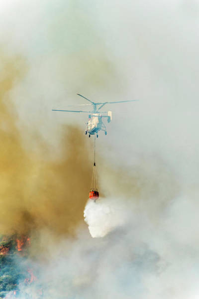 Bucket Photograph - Fire Fighting Helicopter Ka-32t by Omersukrugoksu
