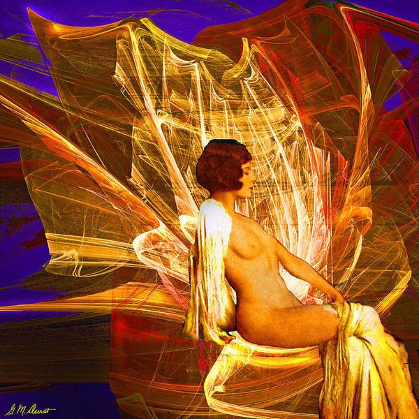 Semis Digital Art - Fire Goddess by Michael Durst