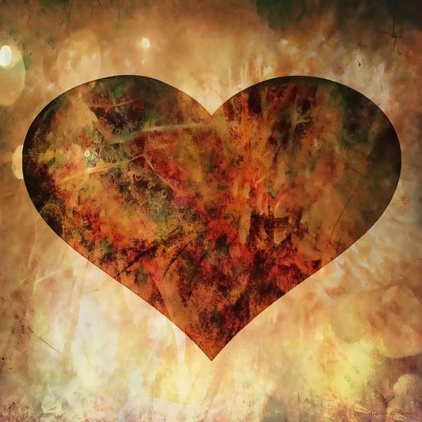 Sultry Digital Art - Fire Heart by Melissa Bittinger